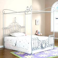 Canopy Bed Full Size White Beds For Girls Tulle – VanlueDesign