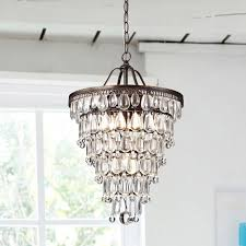 conical 4 light with antique brass crystal chandelier and lighting plus window treatment for modern