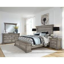 california king set. Brilliant California Traditional Gray 4 Piece California King Bedroom Set  Madison Ridge Throughout A