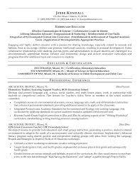 Elementary Teacher Resume Examples 17663 | Ifest.info