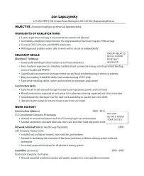 Journeyman Electrician Resume Template Sample 7 Free Documents