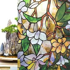 stained glass textures stained glass magnolia etched glass window privacy textured stained effect fl