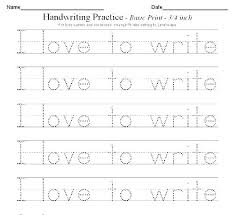 Printable Alphabet Writing Practice Sheets Writing For Kindergarten Worksheets Slaterengineering Com