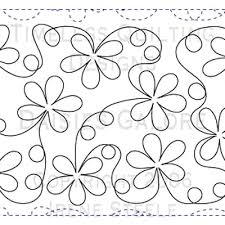 DAISIES GALORE | Paper Version | Free motion quilting, Patterns ... & Cute quilting design. Adamdwight.com