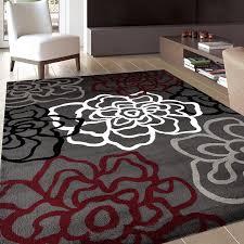 rug contemporary modern fl flowers area rug 5 3 x 7