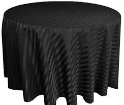 90 striped round jacquard polyester tablecloths black 86339 1pc pk