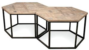 hexagon coffee table hexagon coffee table w metal base by riverside furniture wolf hexagon coffee table