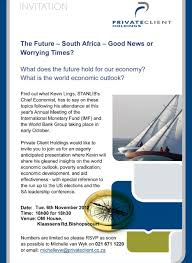 seminar invitation seminar invitation south africa good news or worrying times