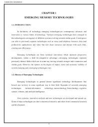 Denote Some To Modern Experience With Technology On Resume Emerging Memory Technologies Document