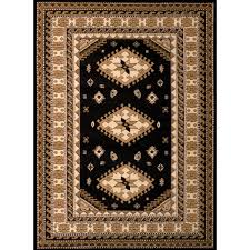 united weavers dallas tres black 5 ft x 7 ft indoor area rug