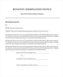 Termination Paperwork Template Employee Benefits Termination