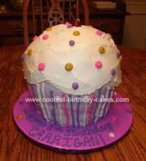 Cool Homemade Giant Cupcake Cake