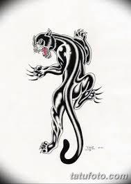 черно белый эскиз тату с черной пантерой 11032019 057 Tattoo