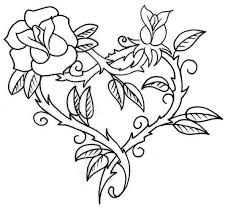 See more ideas about coloring pages, flower drawing, rose coloring pages. Hearts And Roses With Sharp Thorn Coloring Page Color Luna Heart Coloring Pages Rose Coloring Pages Hearts And Roses