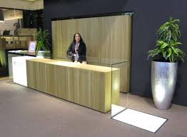 modern office reception desk. Modern Office Reception Desk Inspiration With Glass Table And Big Vase In The Corner Furniture Seating .