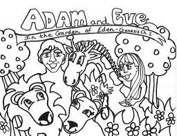Small Picture Adam And Eve Coloring Pages For Kids businesswebsitestartercom