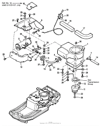 Briggs engine parts diagram best of simplicity coro 12 5hp gear and 34 quot mower deck