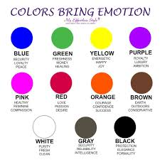 Colors Affect Mood Chart Emotions Does Your Best Fox