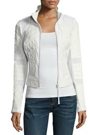 blanc noir quilted moto jacket front cropped image