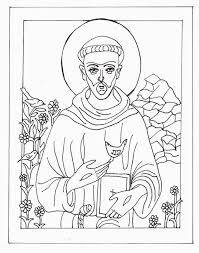St Francis Assisi Coloring Pages Az Coloring Pages For St Francis Of