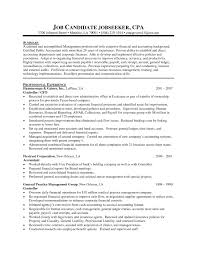 Cpa Resume Sample Sample Resume