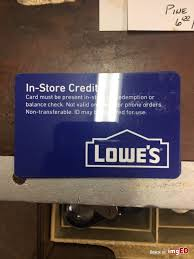 lowes gift card in credit 301 58