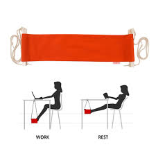 smagreho portable adjule mini office foot rest desk feet hammock orange co uk garden outdoors