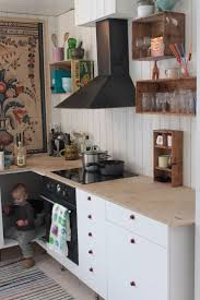 From Do's Family, shelving from wooden fruit crates