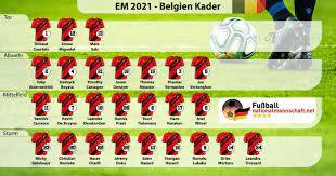 Wohl dem, der einen kevin de bruyne auf der ersatzbank hat. Fussball Nationalmannschaft Von Belgien 2021