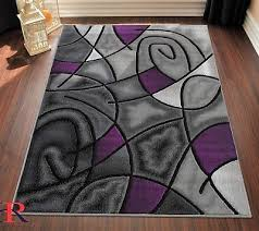 purple grey silver black abstract area rug modern contemporary circles and