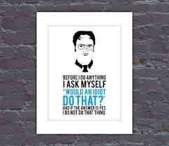 Poster The Office The Office Poster Dwight Quote Poster The Office Tv Show Poster
