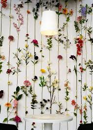 Small Picture decorating a blank wall fake flowers to decorate a blank wall