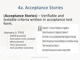 Agile User Story Acceptance Criteria Template User Story Acceptance Test Example