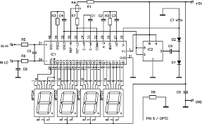 digital tachometer rpm meter schematic design digital dc voltmeter based icl7107 chip
