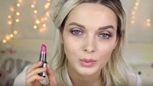 nyx cosmetics lipstick in sweet pink spring makeup tutorial for acne e skin