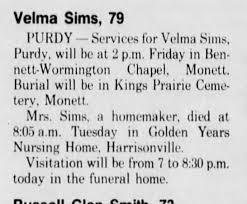 Velma Sims died - Newspapers.com