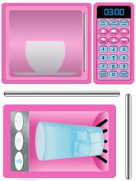 open microwave clipart. diy play kitchen printable pink refrigerator and microwave decals instant download open clipart