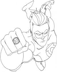 Free Printable Green Lantern Coloring Pages