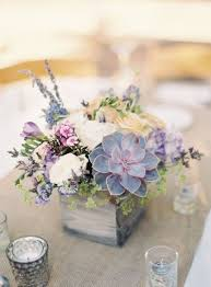 Colorful Succulent Floral Centerpieces