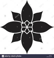 Weihnachtsstern Schwarz Vektor Konzept Symbol