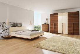 white contemporary bedroom furniture black gloss paint wooden low profile beds shiny creamy teak wooden