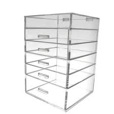 china clear acrylic makeup organizer with drawer