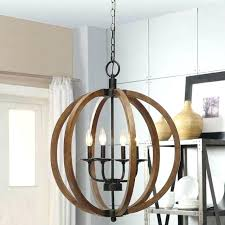 rustic wood chandelier lighting light fixture orb sphere pendant globe round diy