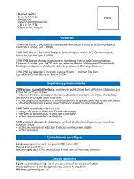 French Cv Example Resume Cover Letter