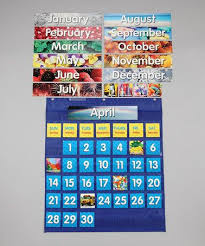 Calendar Pocket Chart Set Take A Look At This Monthly Calendar Pocket Chart Set By
