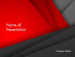 Folded Red And Gray Layers Abstract Powerpoint Template Backgrounds
