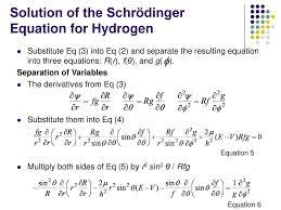 solution of the schrödinger equation for hydrogen