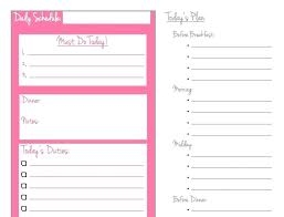 daily work schedule templates my daily schedule template