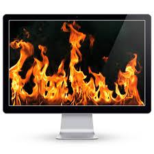 fireplace live hd screensaver on the mac app