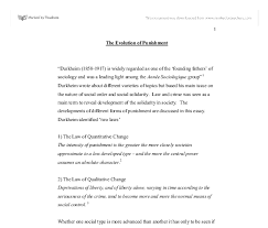 the evolution of punishment a level sociology marked by  document image preview